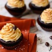 salted caramel mocha cupcakes - www.afarmgirlsdabbles.com