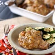 {EASY!} baked pork chops and stuffing - www.afarmgirlsdabbles.com