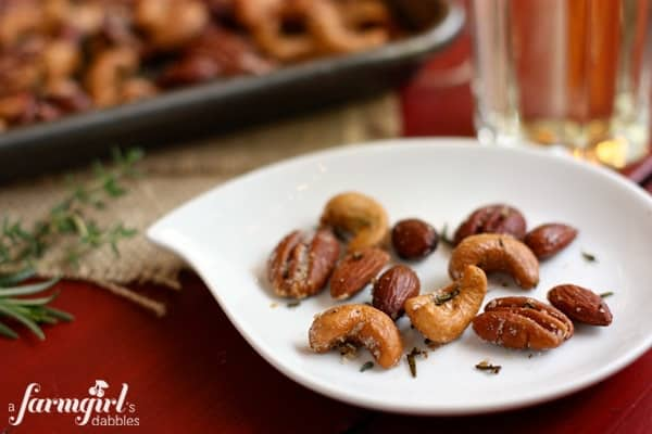 a plate of Spiced Nuts