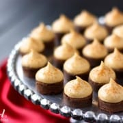 espresso brownie bites with kahlua buttercream - www.afarmgirlsdabbles.com