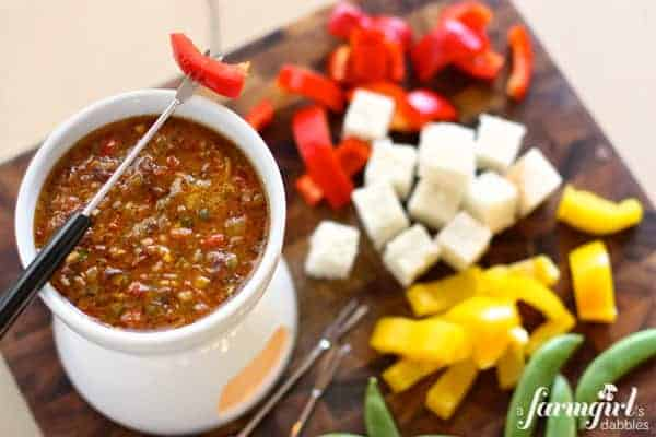 Bagna Cauda with Sun-Dried Tomatoes • a farmgirl\'s dabbles