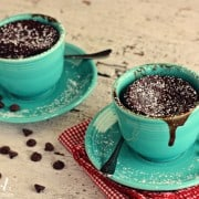 gooey chocolate cake cups for two