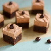 brownies with mocha buttercream