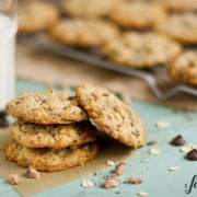 chocolate chip cookies with toffee and coffee