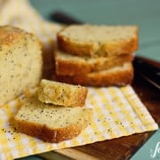 almond poppy seed bread with lemon glaze copy