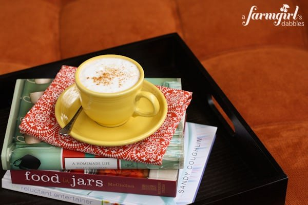 A Cup of Coffee on a Stack of Books