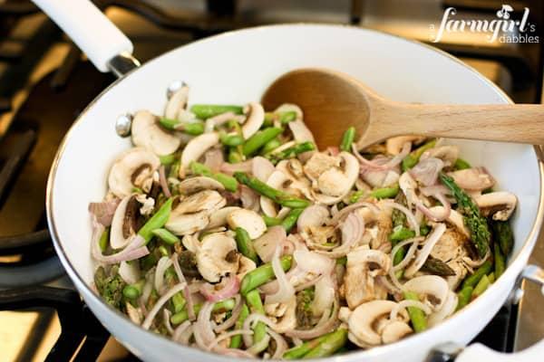 sautéed Mushrooms, Shallots, and Asparagus