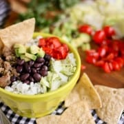 Turkey Taco Bowls with tortilla chips