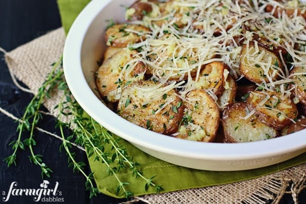 roasted potatoes with garlic butter and thyme