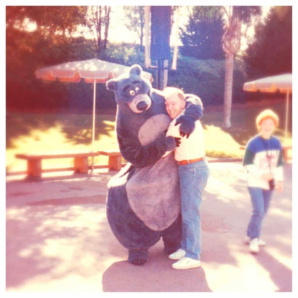 Dad and Baloo at Epcot, 1987