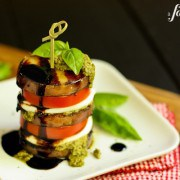 Caprese Stacks with Grilled Honey Balsamic Potatoes
