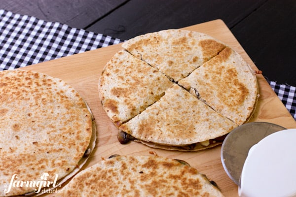 quesadillas cut into slices