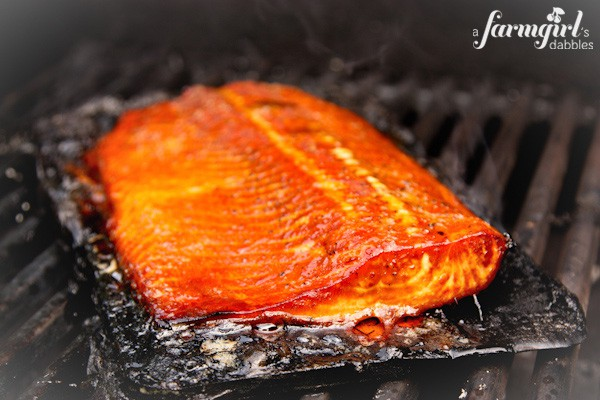 Sweet and Smoky Grilled Salmon - www.afarmgirlsdabbles.com