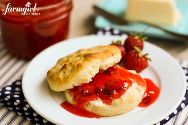 Strawberry Rhubarb Freezer Jam with Orange and Cardamom - www.afarmgirlsdabbles.com
