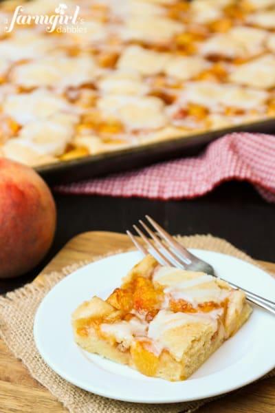 Almond Peach Squares - www.afarmgirlsdabbles.com