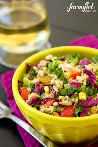 Chopped Chicken and Couscous Salad with Sweet Basil Dressing