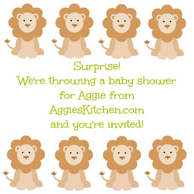 aggie's Kitchen baby shower invite