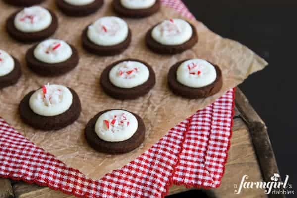peppermint and espresso shortbread bites