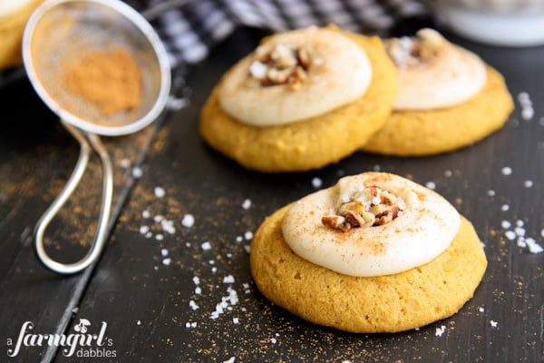 Melt-In-Your-Mouth Pumpkin Cookies - www.afarmgirlsdabbles.com