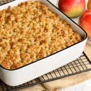 Overnight Baked Apple Oatmeal with Crunchy Brown Sugar Streusel