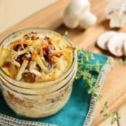 Individual Potato Gratins with Bacon and Mushrooms