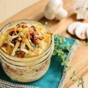 bacon and mushroom Potato Gratins