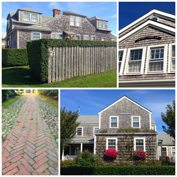 a collage of homes in Nantucket