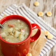 New England Clam Chowder with Salt Pork Belly