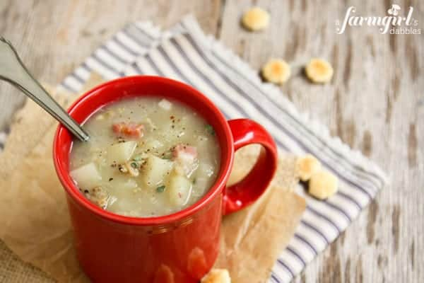 Clam Chowder with Salt Pork Belly