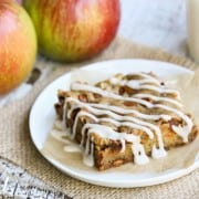 Whole Wheat Apple Bars with Cardamom Glaze