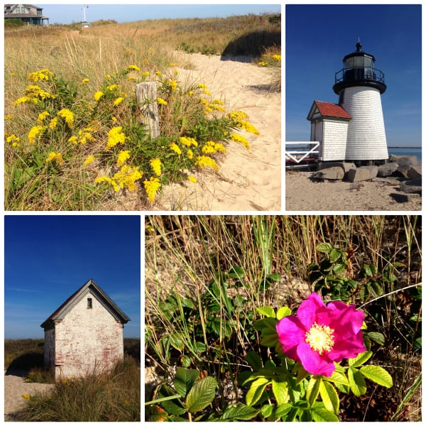 a collage of photos from Brant Point Lighthouse