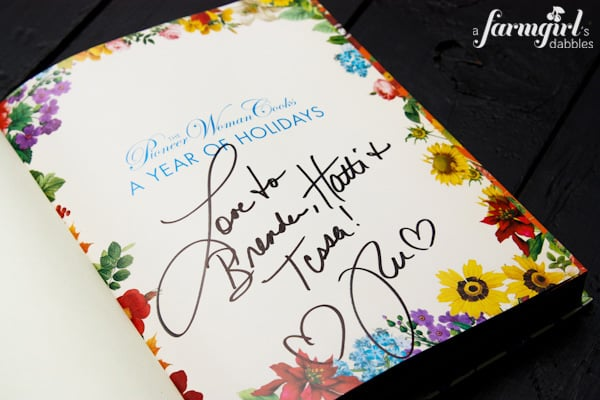 An autographed cookbook