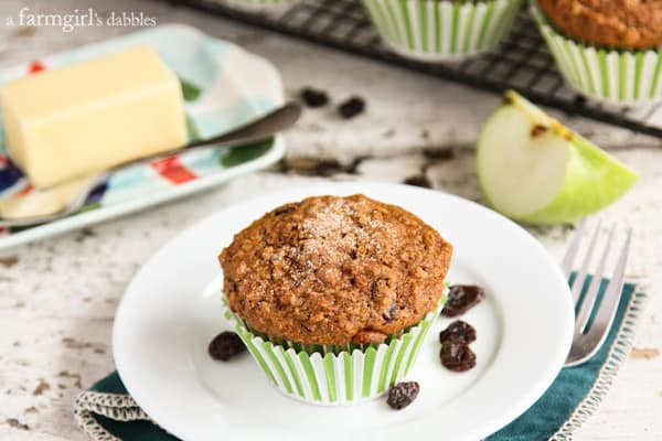 a Bran Muffin topped with a little sugar