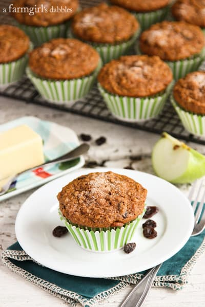 a cooling rack of Bran Muffins