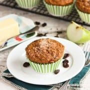 banana, apple, bran muffins