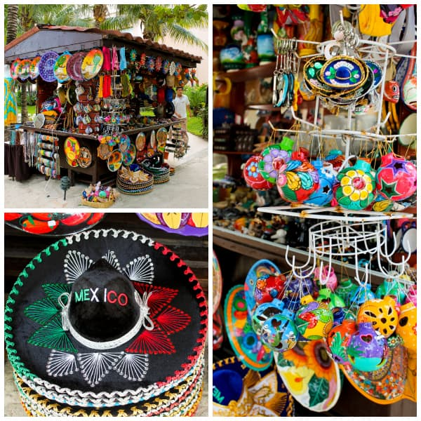 a stand selling mexican souvenirs