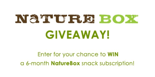 WIN a 6-month NatureBox snack subscription! Enter at afarmgirlsdabbles.com !!