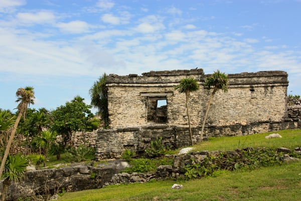 an old structure in Tulum
