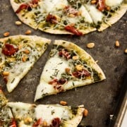 Individual Tortilla Caprese Pizzas
