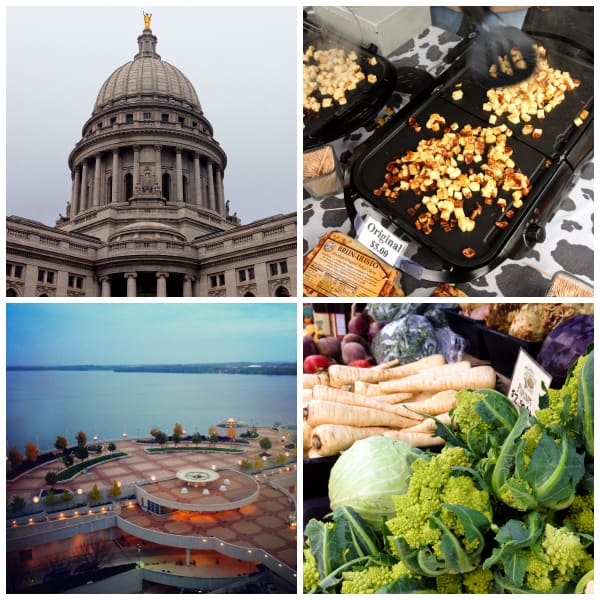 collage of photos from Madison, WI