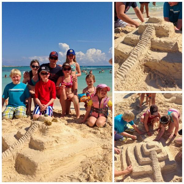 Mayan sand castle - Dreams Puerto Aventuras - afarmgirlsdabbles.com
