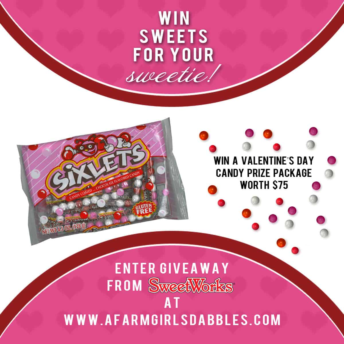 SweetWorks Valentine's Day candies assortment #giveaway, valued at $75  - afarmgirlsdabbles.com