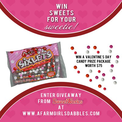 SweetWorks Valentine's Day candies #giveaway = valued at $75! Enter at afarmgirlsdabbles.com