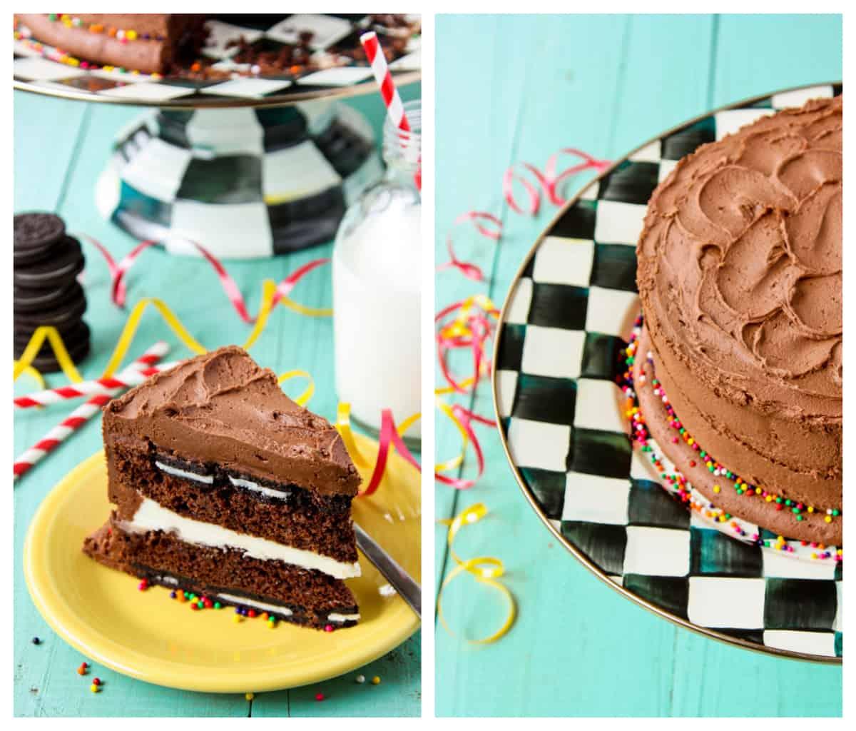 Oreo Surprise-Inside Cake - afarmgirlsdabbles.com