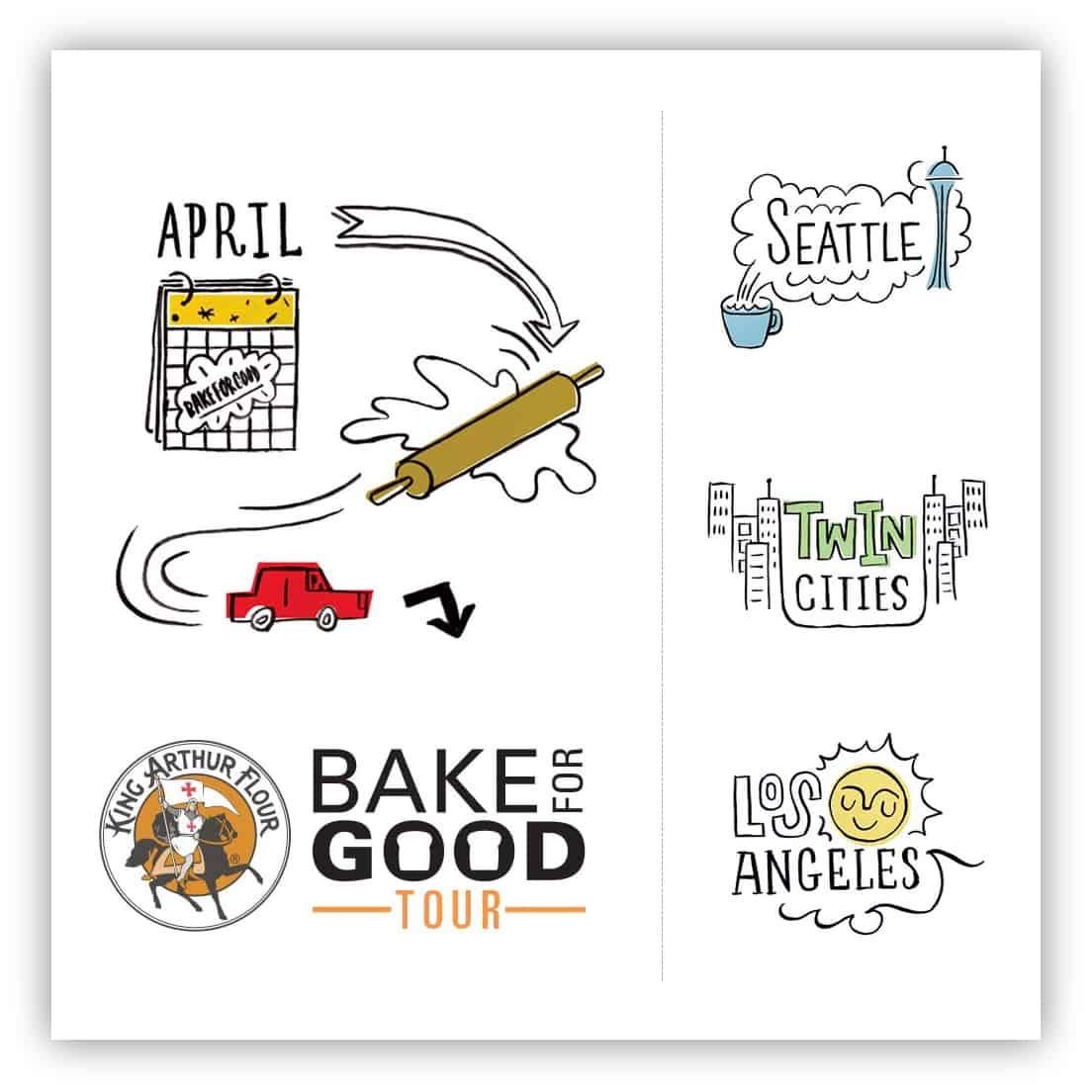 #BakeForGoodTour with King Arthur Flour - afarmgirlsdabbles.com