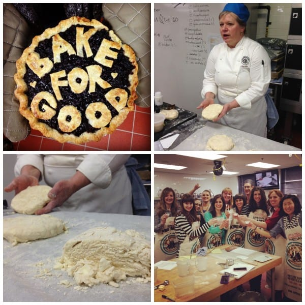 A Pie and Participants of the Bake for Good Tour