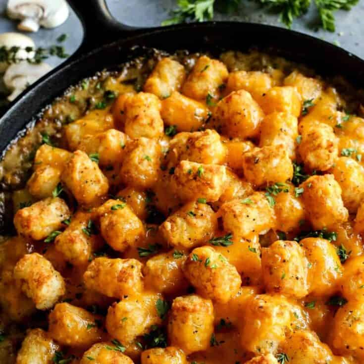 Tater Tot Hotdish {2 ways...with and without canned soup!}