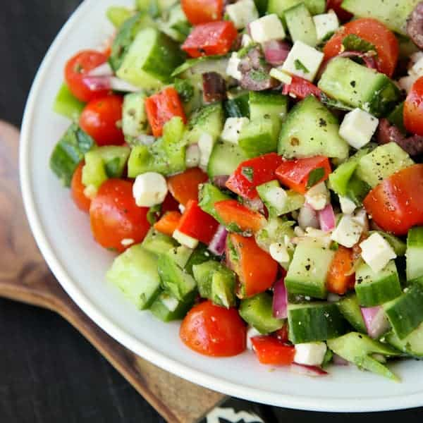 Greek Chopped Salad • a farmgirl's dabbles