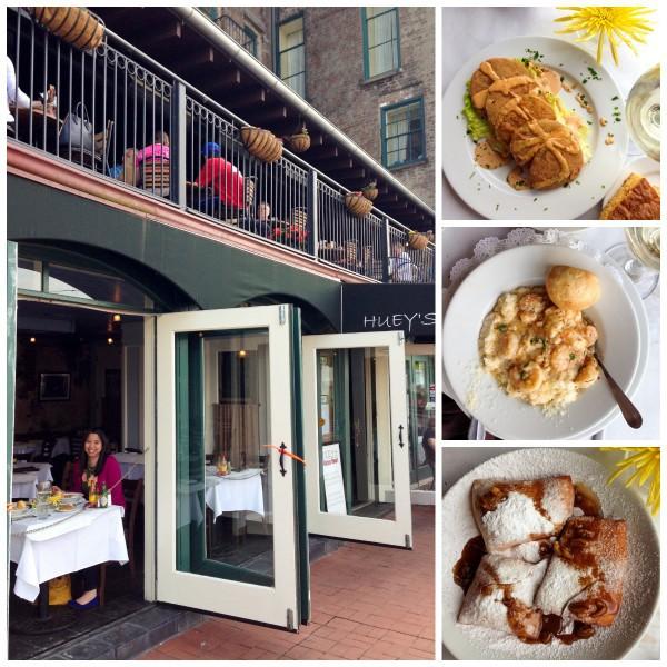 Huey's restaurant in Savannah, Georgia