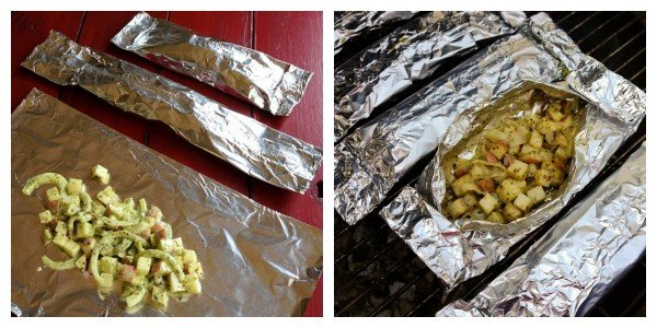 foil Potato Packets before going on the grill